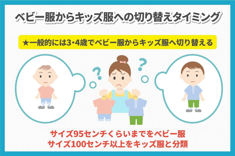 【年齢別】子供服のサイズ表アリ!ベビーからキッズ服への切り替えはいつから?